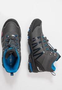 TrollKids - KIDS TROLLTUNGA MID UNISEX - Hiking shoes - anthracite/medium blue - 0