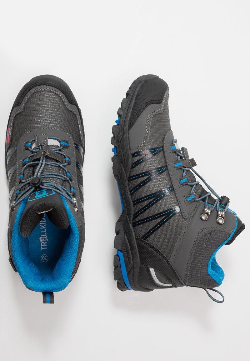 TrollKids - KIDS TROLLTUNGA MID UNISEX - Hiking shoes - anthracite/medium blue