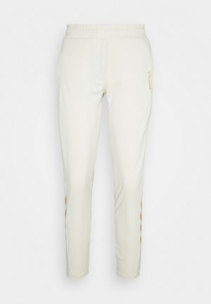 HMLZIBA TAPERED PANTS - Jogginghose - bone white