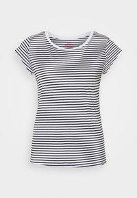 Mads Nørgaard - ORGANIC FAVORITE STRIPE TEASY - Print T-shirt - white/black - 4