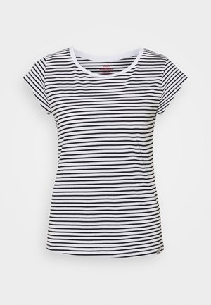 FAVORITE STRIPE TEASY - T-shirts med print - white/black