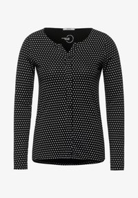 Cecil - MIT MINIMALPRINT - Long sleeved top - schwarz - 3