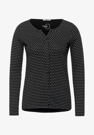 MIT MINIMALPRINT - Long sleeved top - schwarz