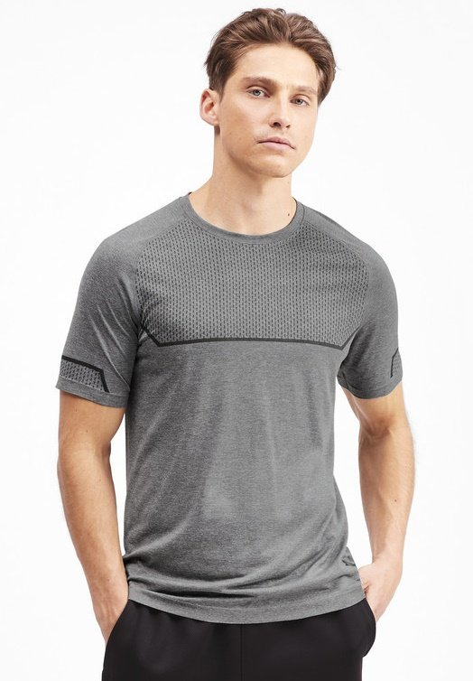 ENERGY SEAMLESS - Basic T-shirt - medium gray heather