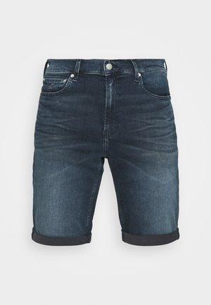 SLIM - Jeansshorts - denim dark