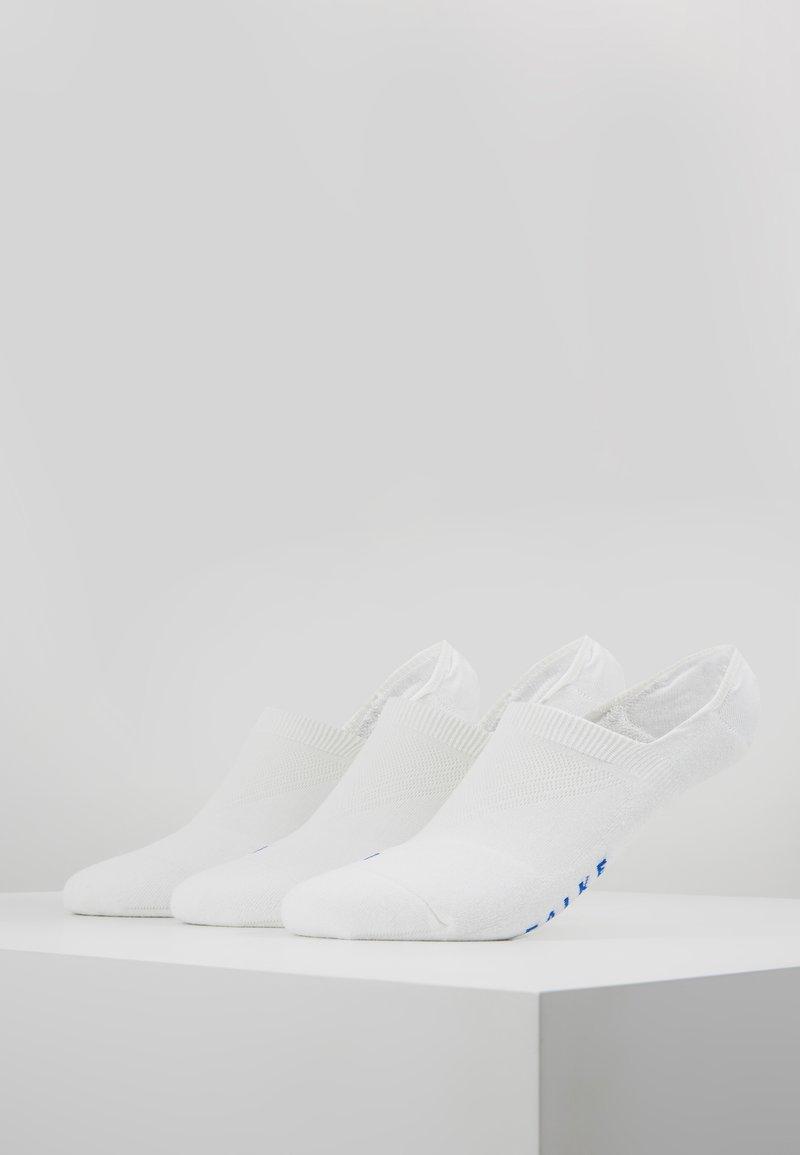 FALKE - COOL KICK 3-PACK INVISIBLES - Trainer socks - white