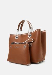 Emporio Armani - MYEA SIMILNAP LOGO SET - Handbag - tobac/lemon/white - 4