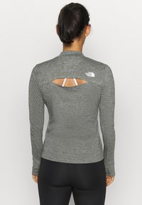The North Face - W ACTIVE TRAIL WOOL L/S - Funktionströja - black heather - 2