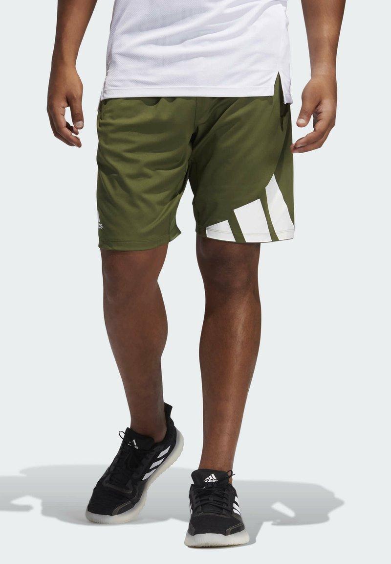 adidas Performance - 3 BAR SHORT - Krótkie spodenki sportowe - khaki
