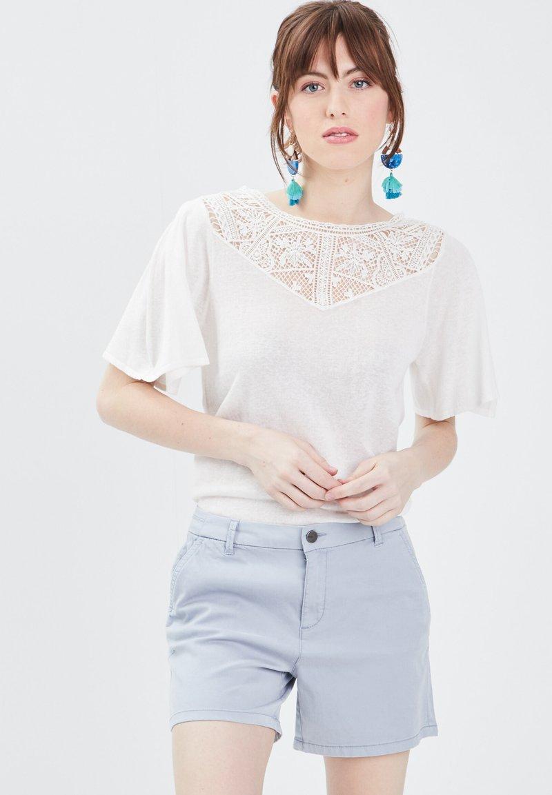 BONOBO Jeans - Print T-shirt - ecru