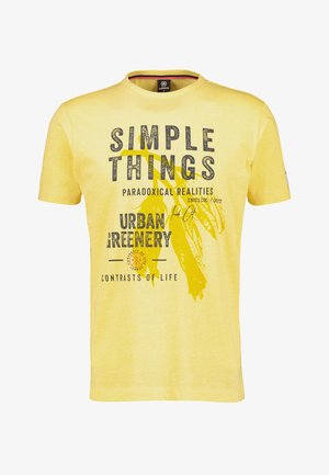 SIMPLE THINGS - Print T-shirt - pale yellow