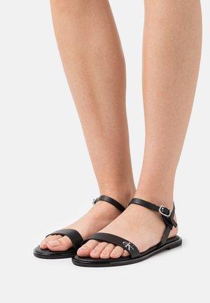 FLAT ANKLE STRAP - Sandals - black