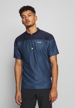 ZIP TRIKOT - Print T-shirt - deep water blue/orbit blue