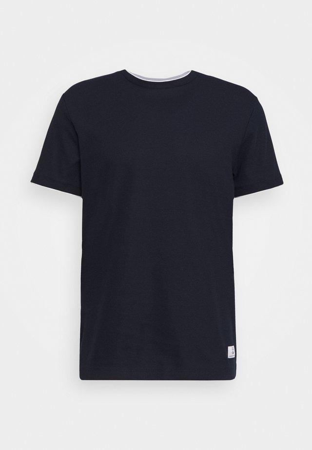 JPRBLATAYLOR TEE CREW NECK - T-shirts - dark navy