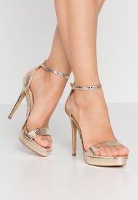 ALDO - MADALENE - High heeled sandals - gold - 0