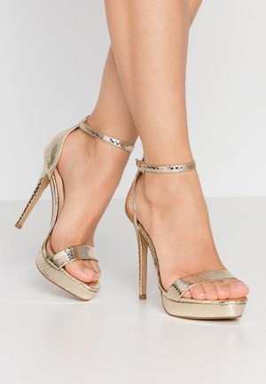 MADALENE - High heeled sandals - gold
