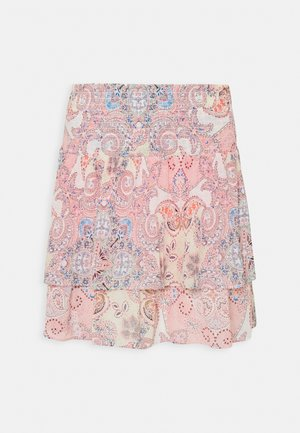 ONLALLY SMOCK LAYERED SKIRT - Mini skirt - sugar coral/desert