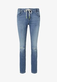 TOM TAILOR DENIM - JEANSHOSEN LYNN ANTIFIT JEANS MIT TUNNELZUG AM BUND - Slim fit jeans - light stone blue denim - 6