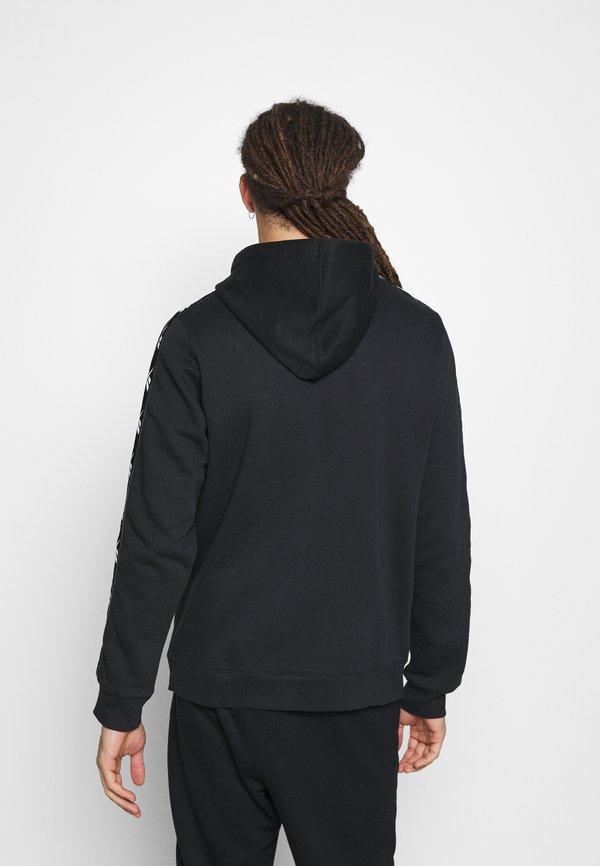 Reebok TAPE HOODIE - Bluza z kapturem - black/czarny Odzież Męska LRLX