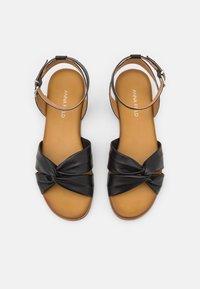 Anna Field - COMFORT LEATHER - Sandals - black - 5