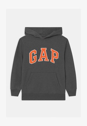 BOY NEW CAMPUS LOGO HOOD - Bluza - charcoal grey