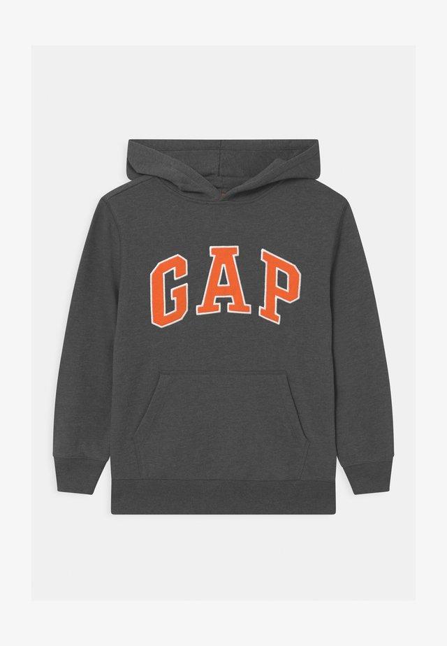 BOY NEW CAMPUS LOGO HOOD - Sweatshirt - charcoal grey