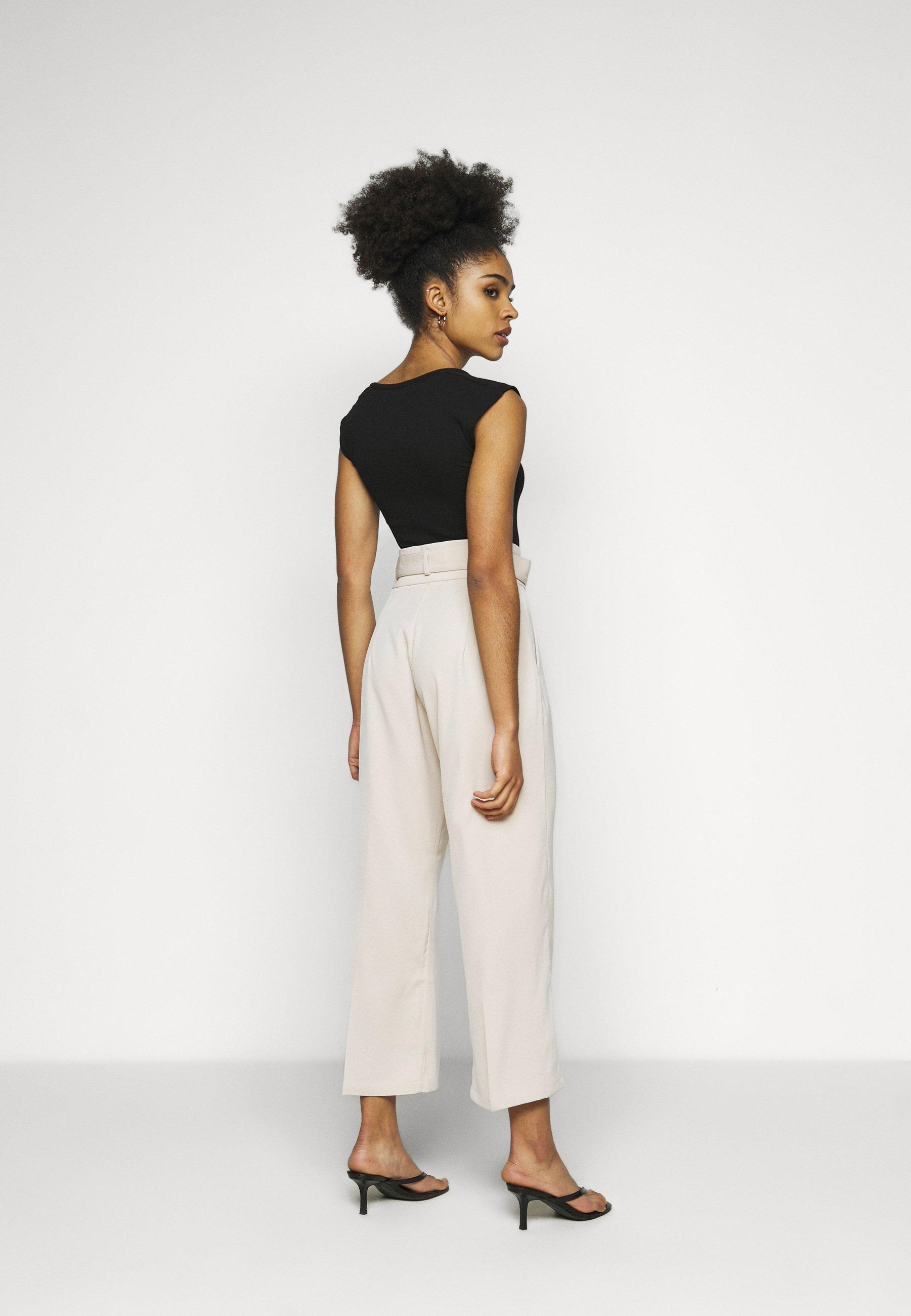 Fashion Union Petite Ellora Trouser - Bukse Cream/offwhite
