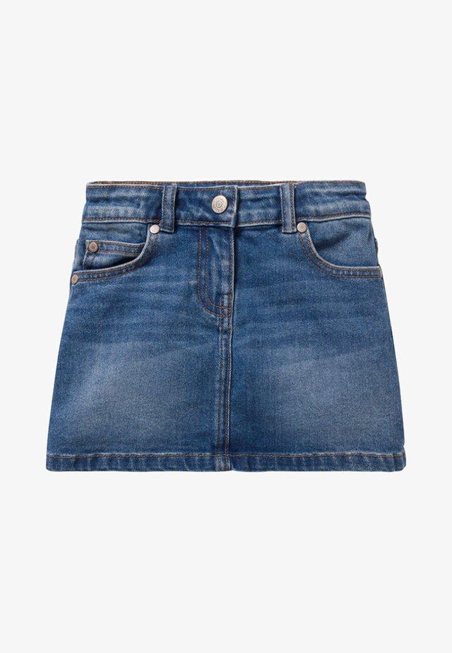 MIT FÜNF TASCHEN - Denim skirt - medium vintage