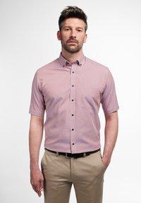 Eterna - MODERN FIT  - Shirt - pfirsich/weiss - 0