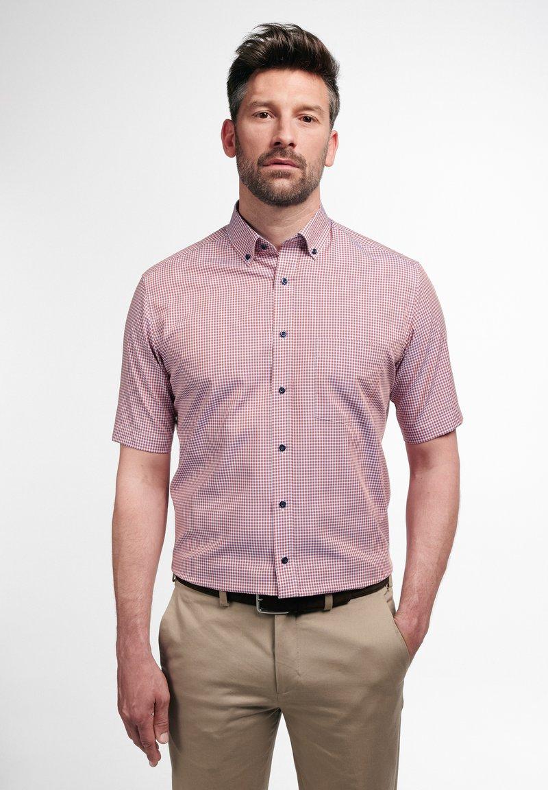 Eterna - MODERN FIT  - Shirt - pfirsich/weiss
