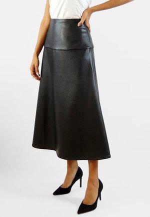 CARINE - A-line skirt - black