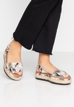NIKKI - Sandalen met plateauzool - nude
