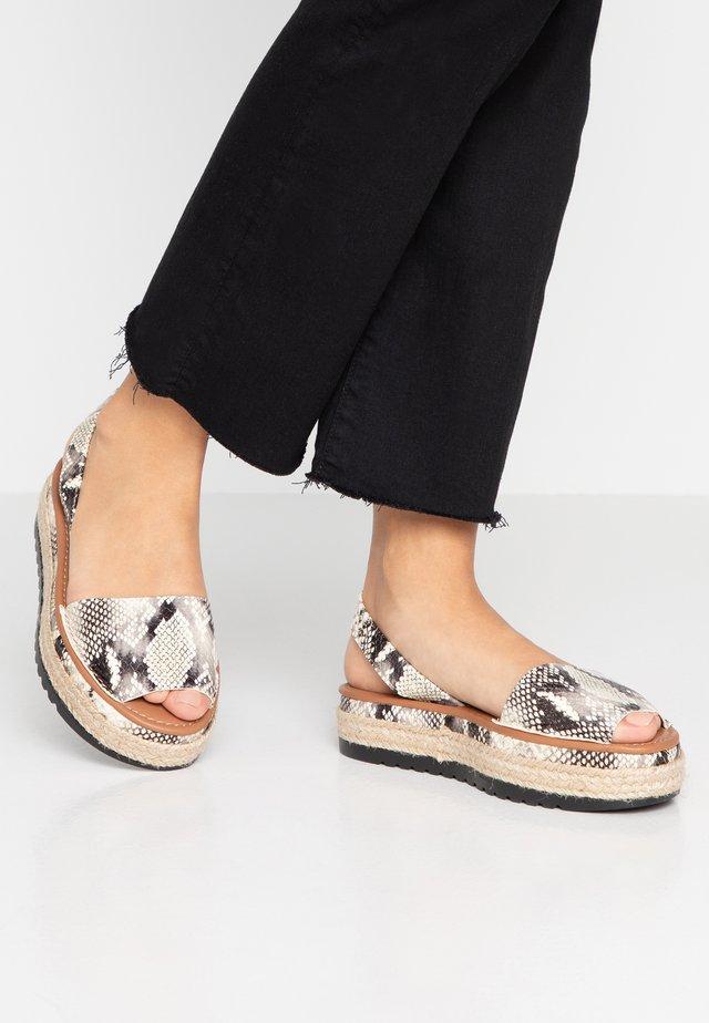 NIKKI - Korkeakorkoiset sandaalit - nude