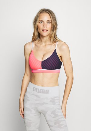 NEO FUTURE BRA - Sports bra - peacoat/ignite pink