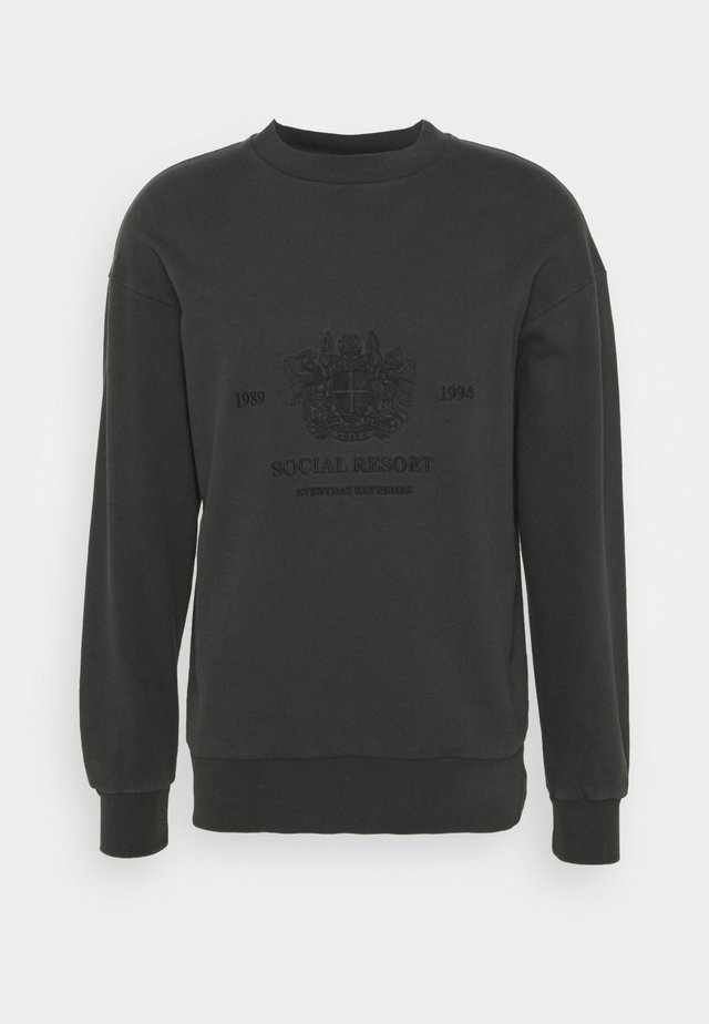 ARTWORK CREW - Sweater - faded black