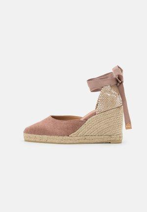 JOYCE - Platform sandals - dusty pink