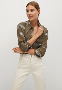 Mango - ANI-I - Button-down blouse - kaki - 0