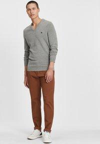 Timberland - Stickad tröja - medium grey heather - 1