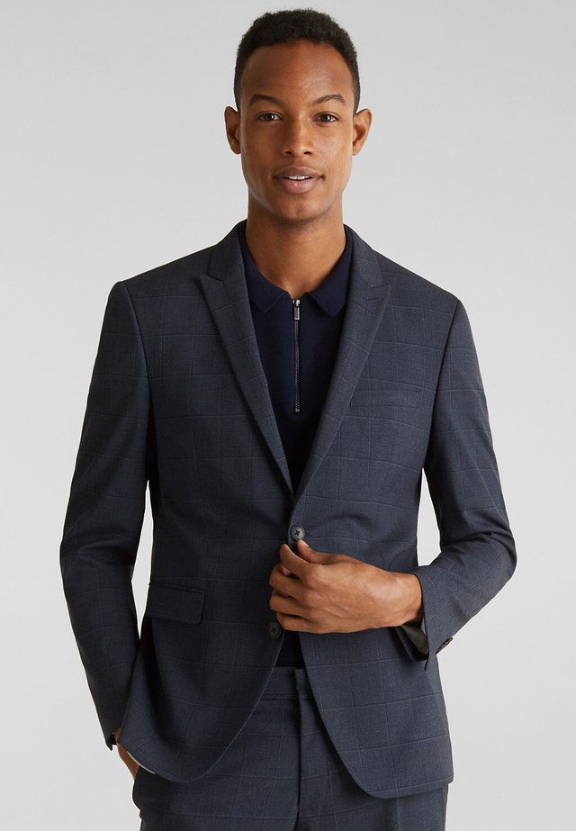 WINDOW CHECK MIX + MATCH STRETCH-SAKKO - Blazer - dark blue