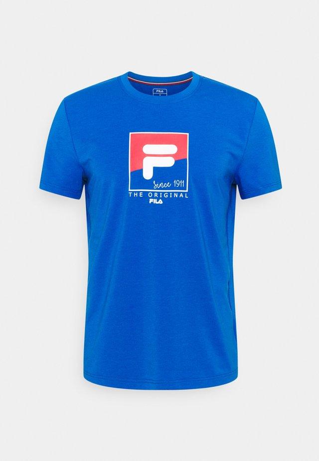 TOM - Print T-shirt - blue iolite