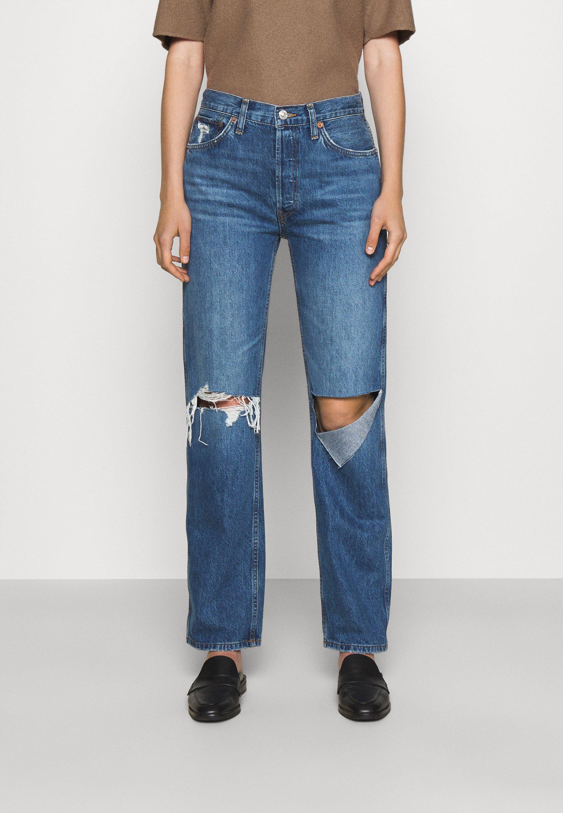 Women HIGH RISE LOOSE - Straight leg jeans