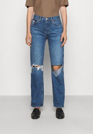 HIGH RISE LOOSE - Straight leg jeans - blue demin