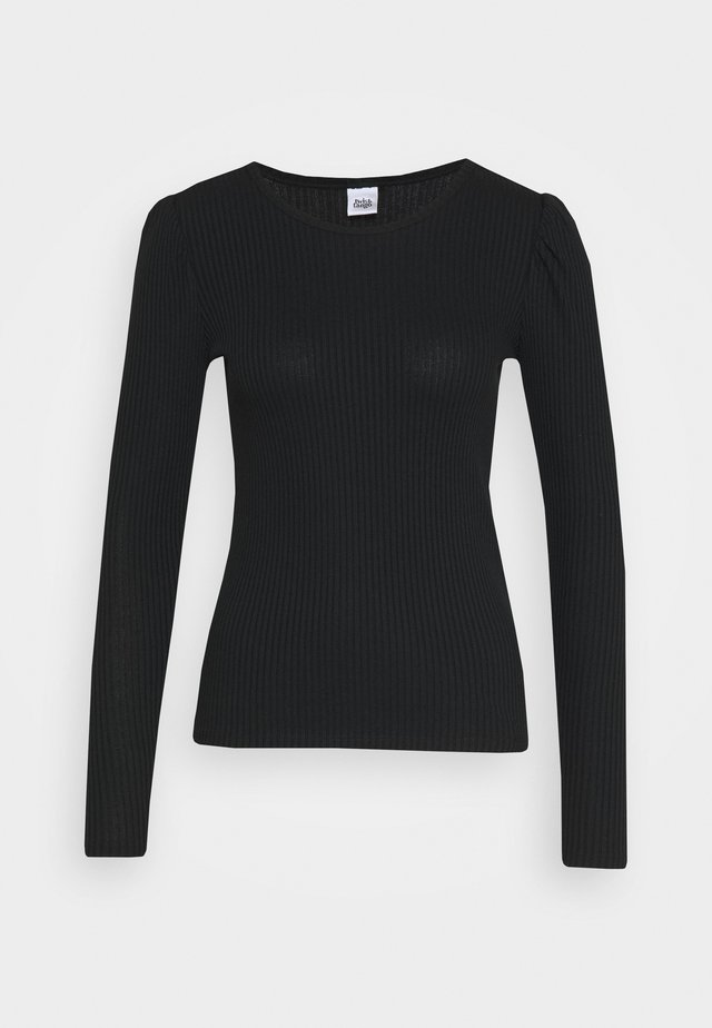 TERRA TOP - Long sleeved top - black