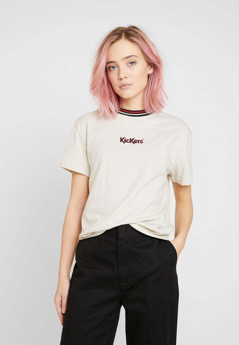 Kickers Classics - STONE BOY TEE WITH TRIM - T-shirt imprimé - beige