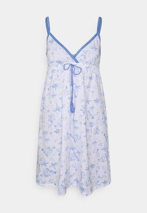 STRAPS SHORT NIGHTDRESS - Nightie - blue