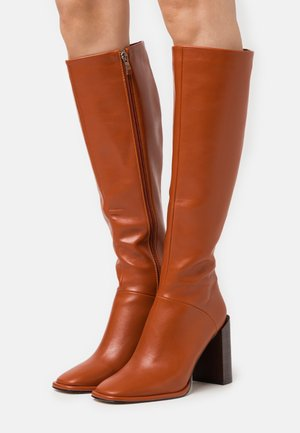 TYRA - High heeled boots - cognac