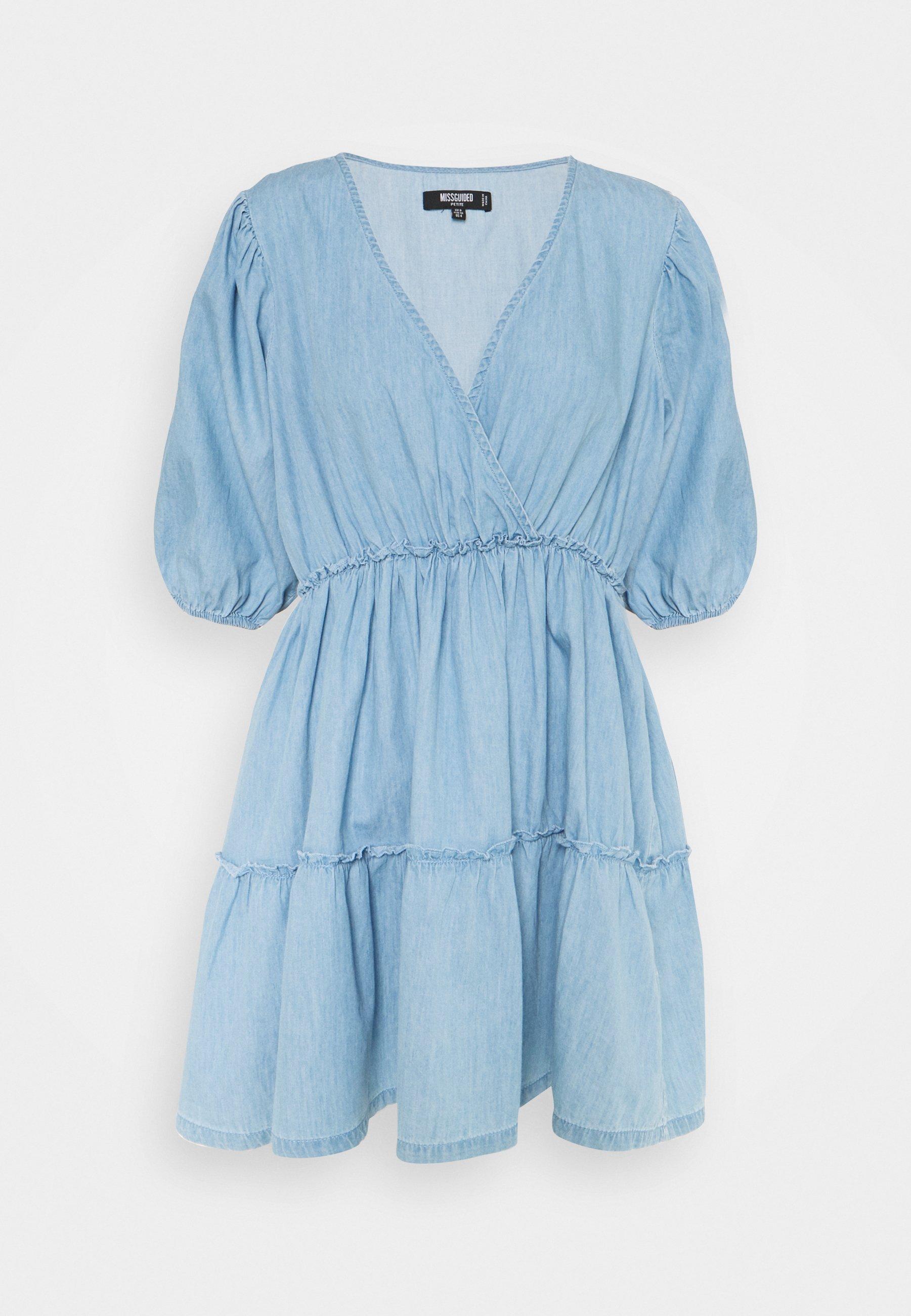 Women CHAMBRAY BALLOON DRESS - Denim dress