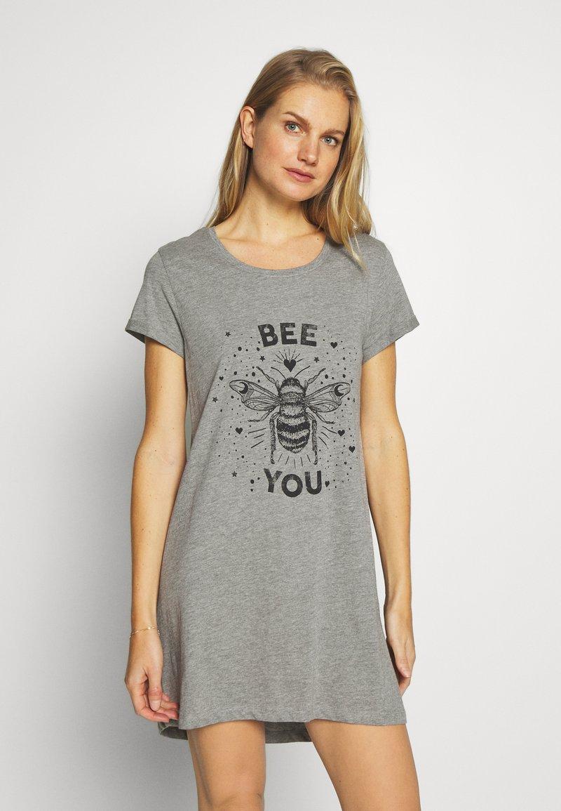 Hunkemöller - NIGHTIE BEE - Nightie - mid grey