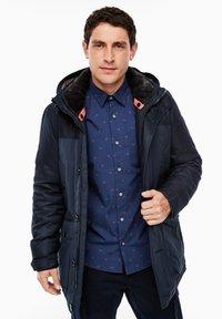 s.Oliver - IM FABRIC MIX - Winter coat - dark blue - 3