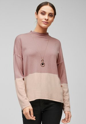 MIT COLOUR BLOCKING - Trui - light pink knit